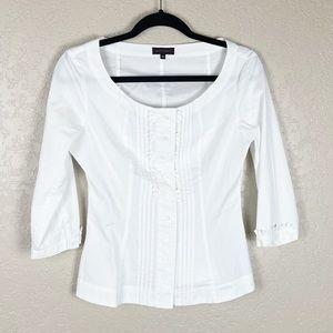 Adolfo Dominguez white button front blouse